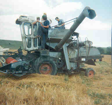 Jagger family on their combine