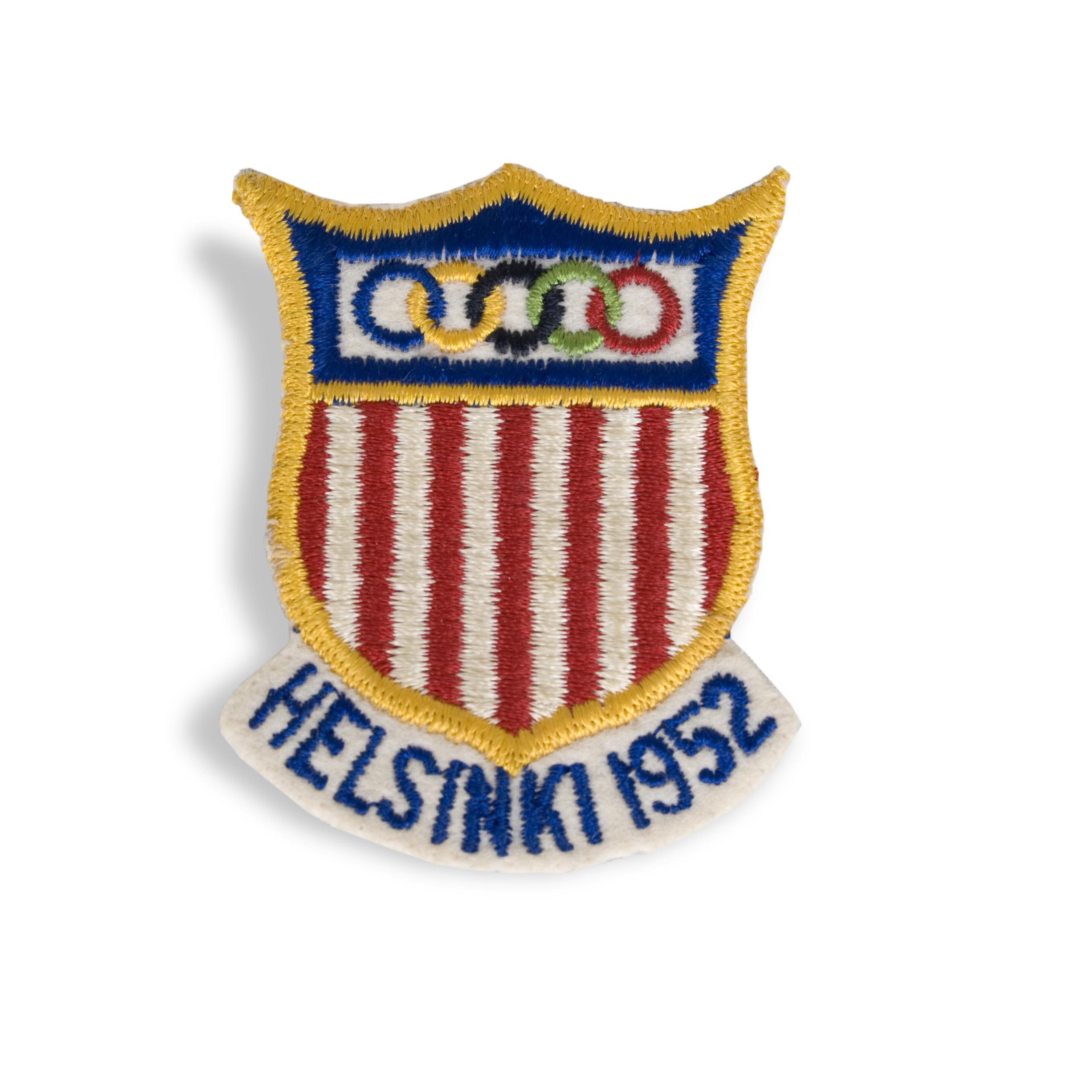 Wes  Santee's patch from the Helsinki Olympics.