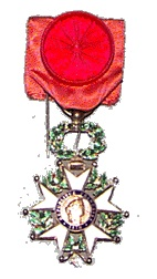 Legion of Honor medal.