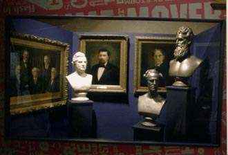 Hall of busts and portraits.