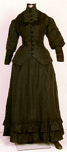 Black wedding dress from 1879.
