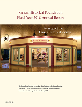 Kansas Historical Foundation  Fiscal Year 2015 Annual Report