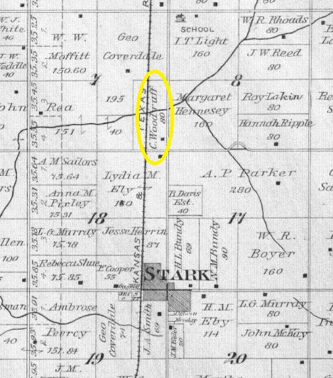 1906 Neosho County grant township map detailed