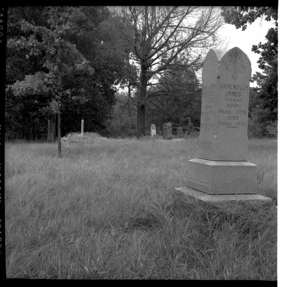 Gravestone of John Tecumseh Jones, 1872