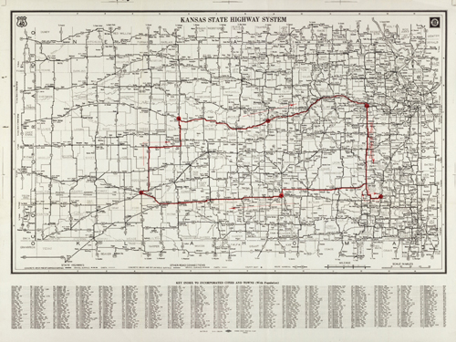 Kansas Defense Dept. map, 1942