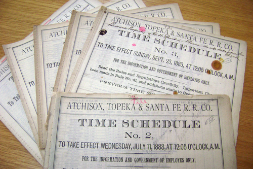 AT&SF timetables