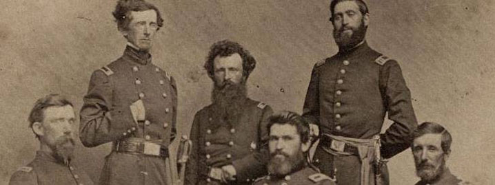 General Blunt and his staff during the Civil War