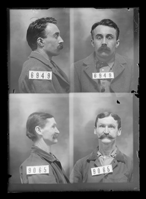 Early mug shots of two state prisoner inmates in 1905.