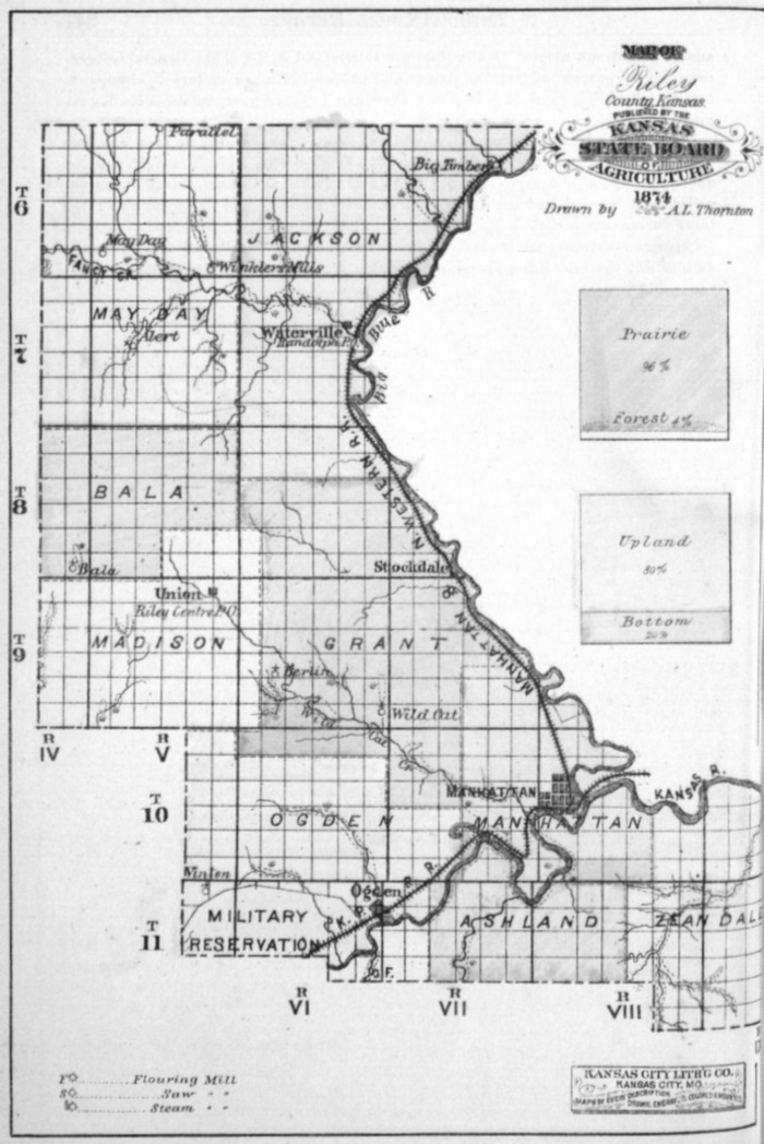 Image of 1874 Riley County map