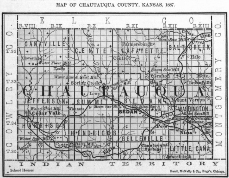 Image of map of Chautauqua County, 1887