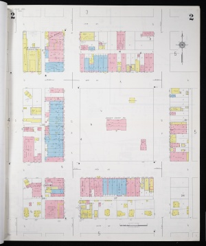 Sanborn map of Belleville, KS, business district