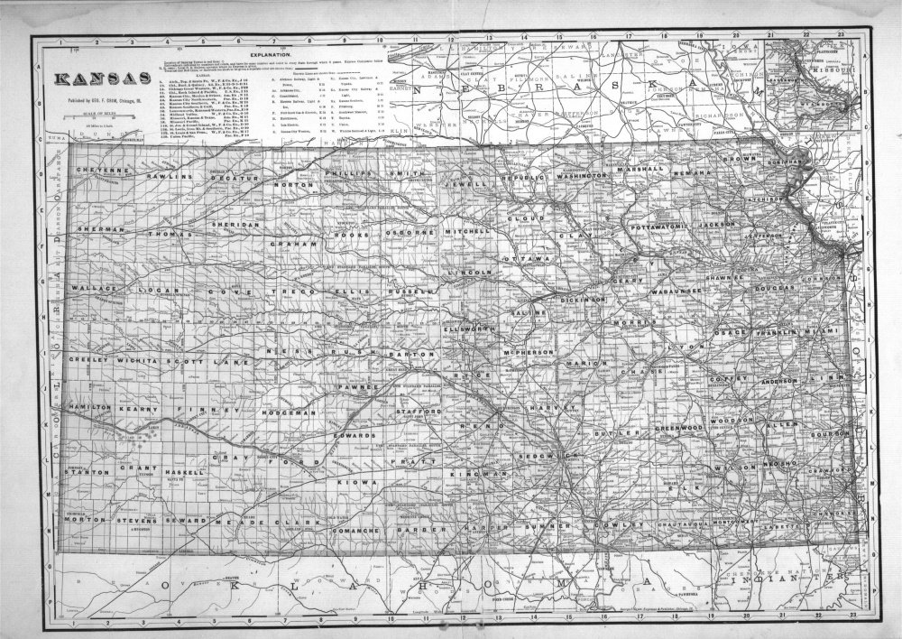 Cram map of Kansas