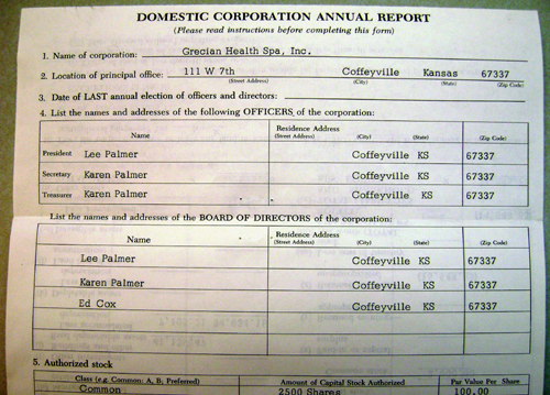 sample of office report