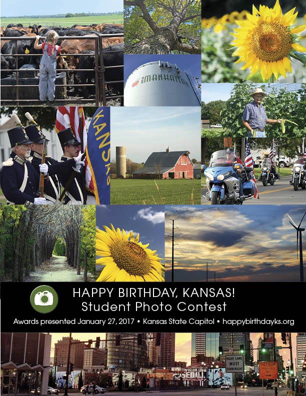 Happy Birthday, Kansas! Student Photo Contest collage 2