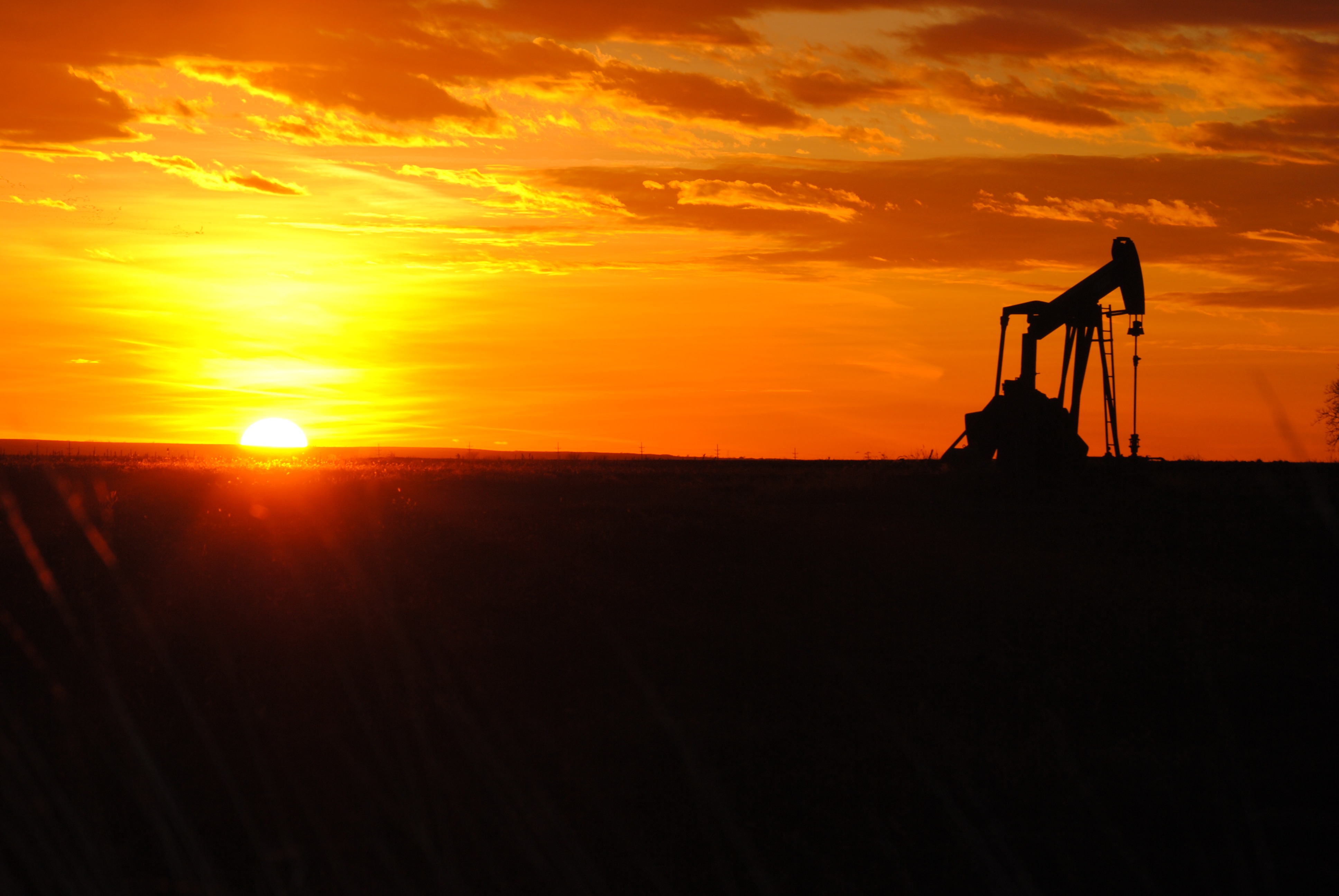 The Beauty of a Kansas Oil Field at Sunset
