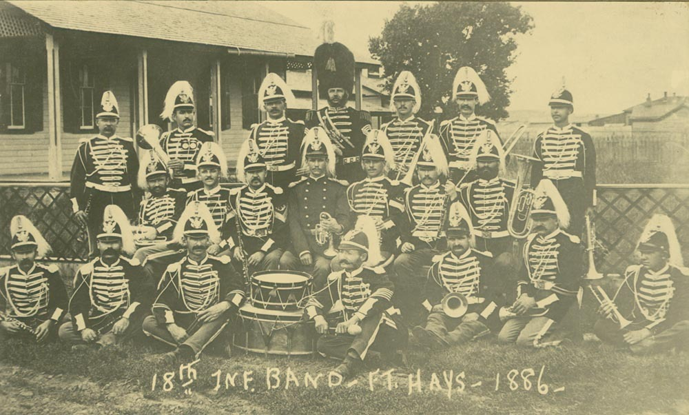 18th Infantry Band, Fort Hays, 1886