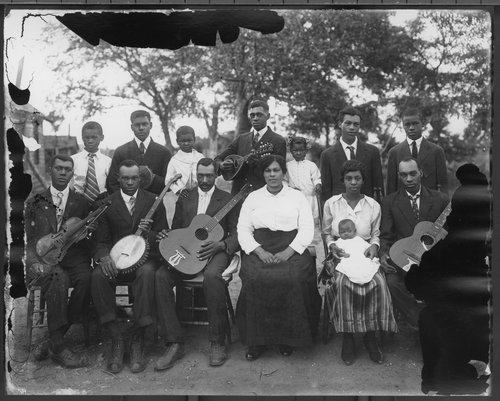 African American band in Lawrence around 1900