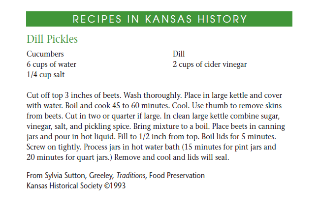 Recipe - Dill Pickles