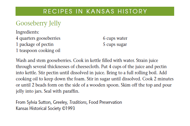 Recipe - Gooseberry Jelly