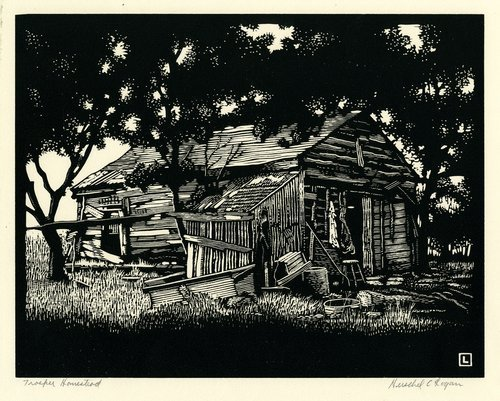Trosper Homestead by Herschel C. Logan