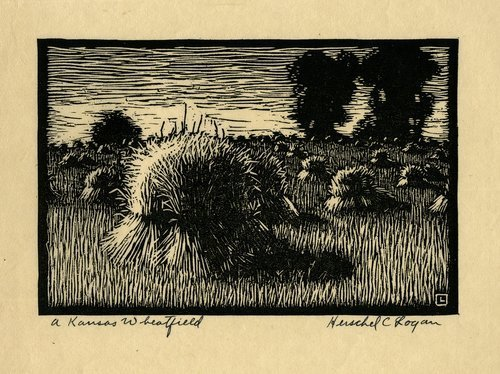 A Kansas Wheatfield by Herschel C. Logan