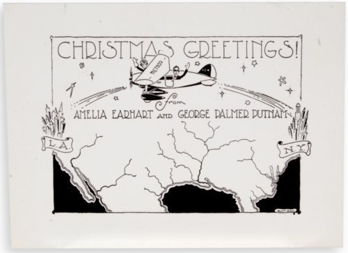 Christmas card by Amelia Earhart