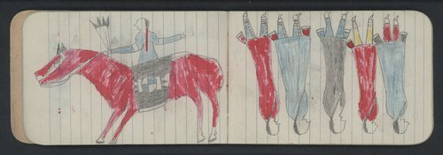 Drawings by Northern Cheyenne men