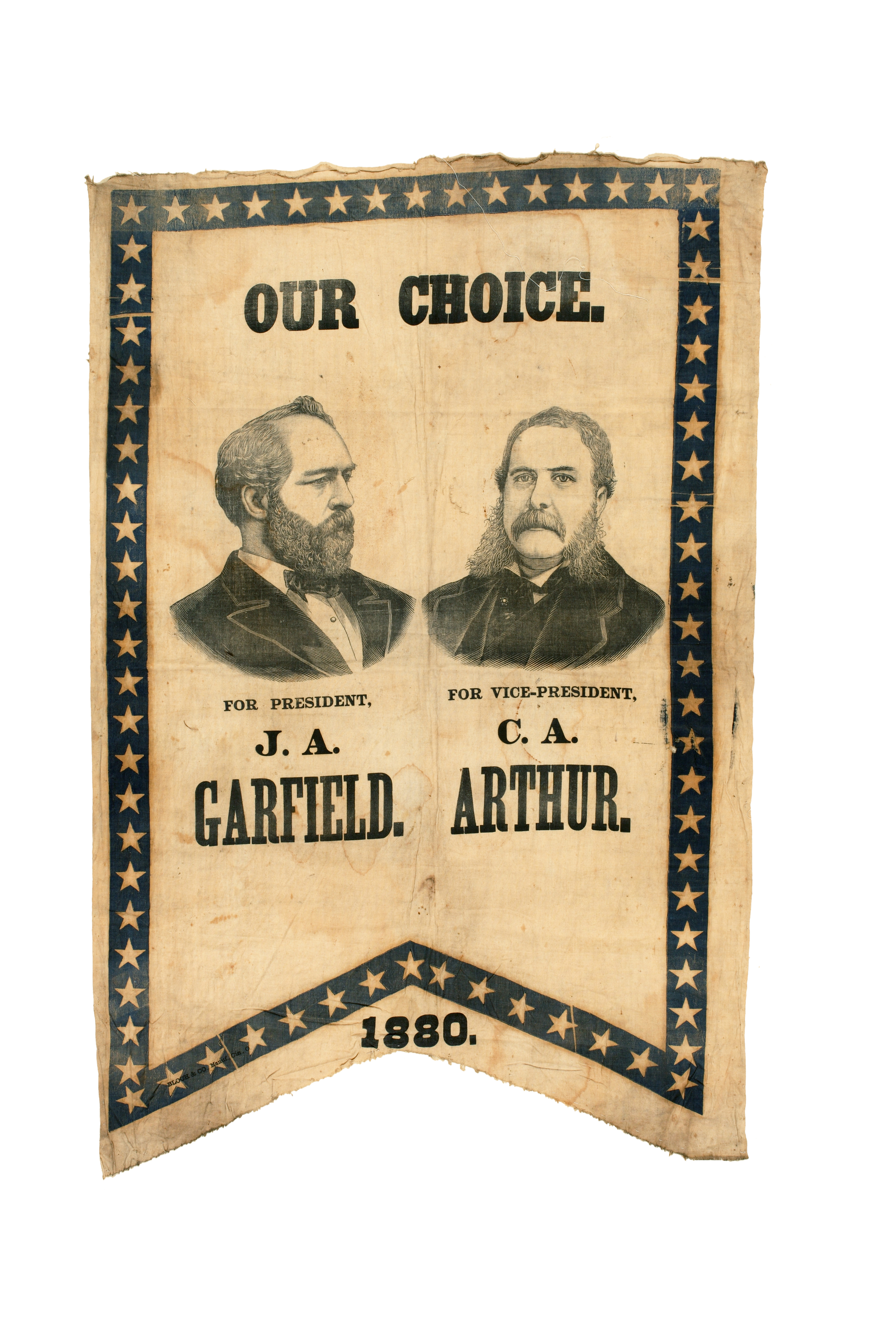 Garfield and Arthur presidential campaign banner