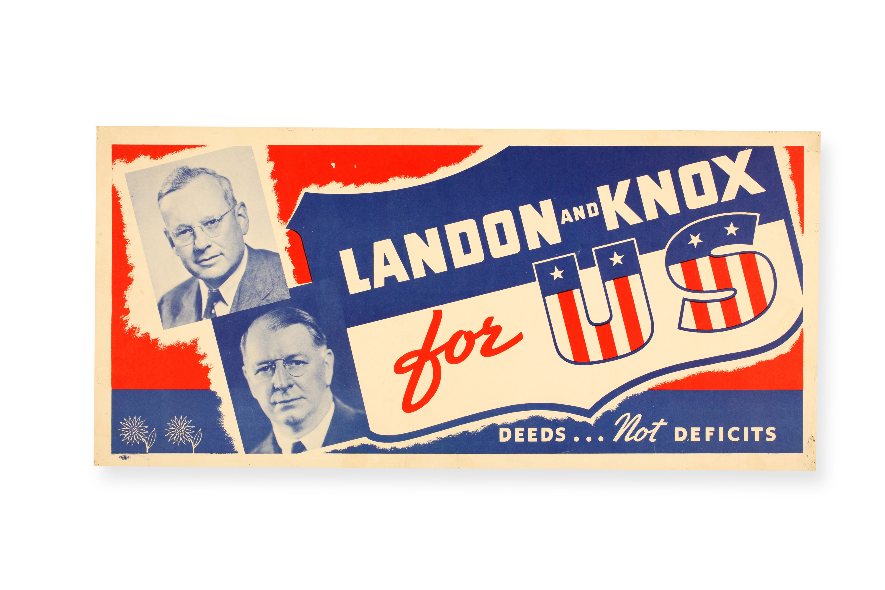 Poster for 1936 Landon and Knox presidential campaign
