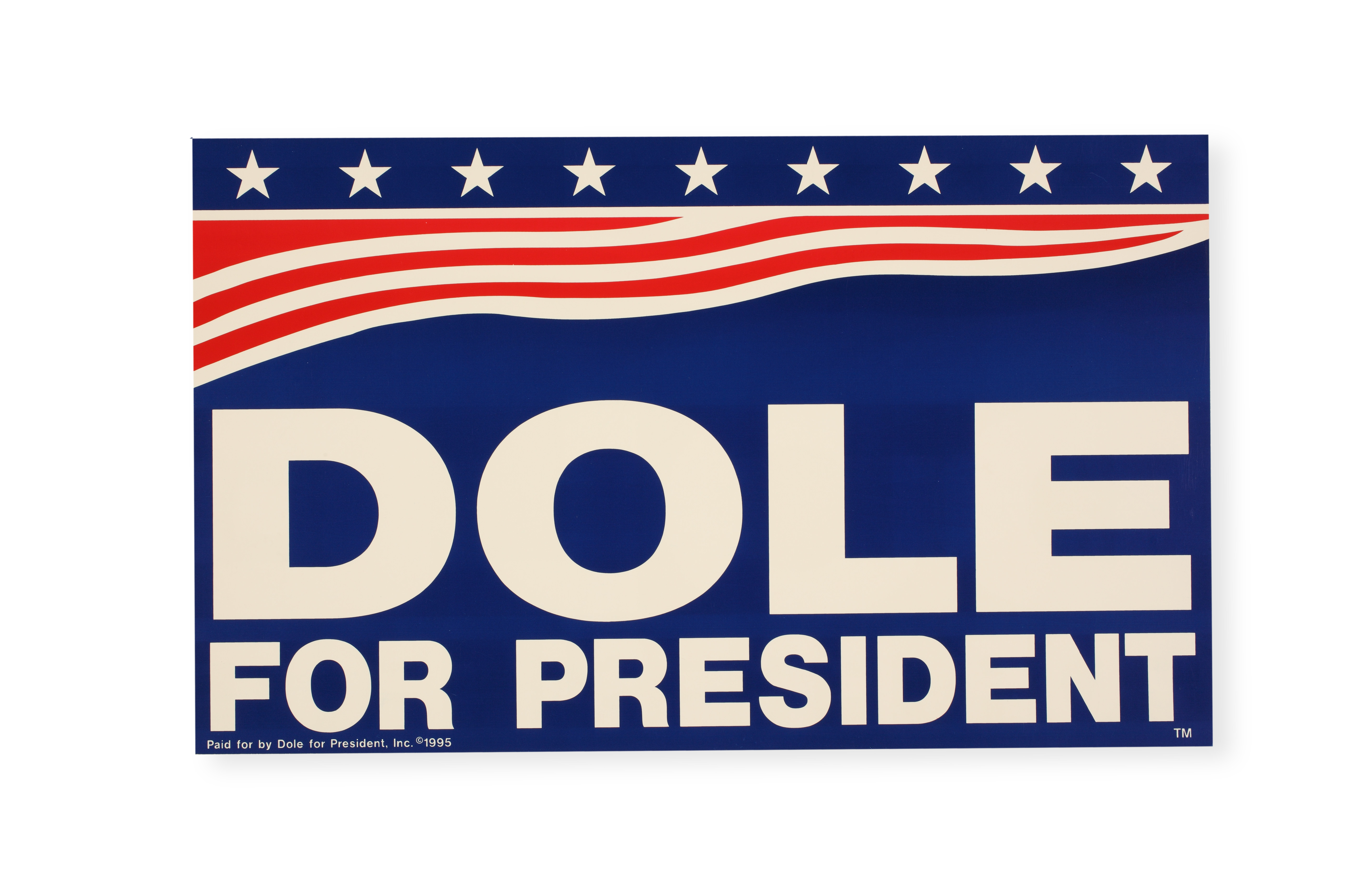 Poster for 1996 Dole presidential campaign