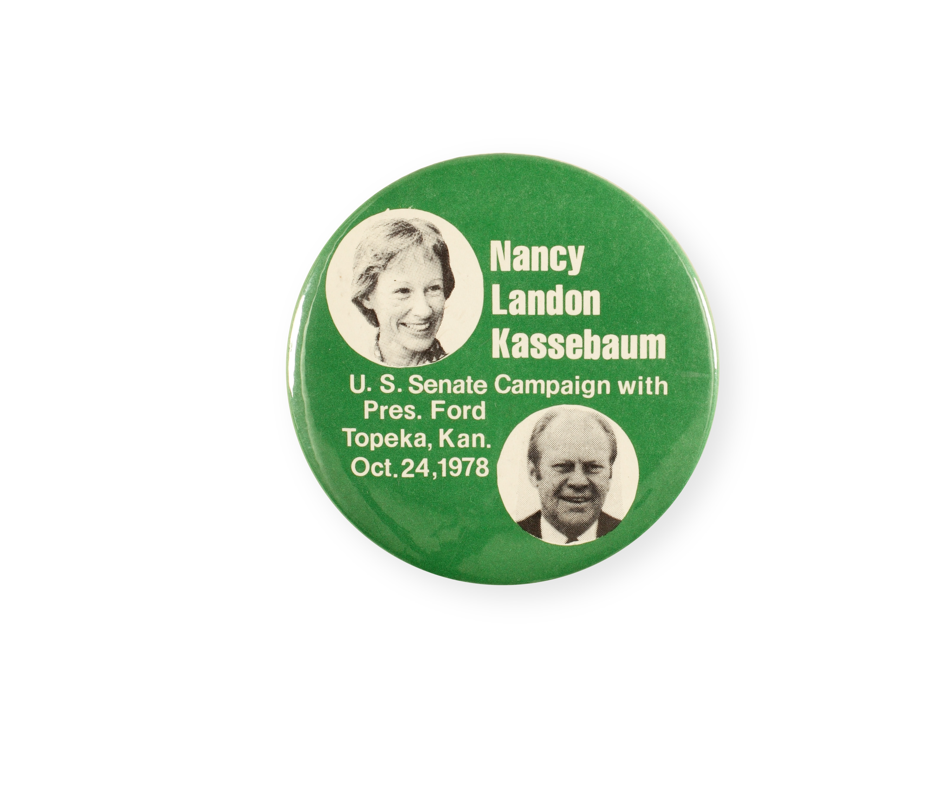 Button for 1978 Kassebaum campaign for U.S. senate