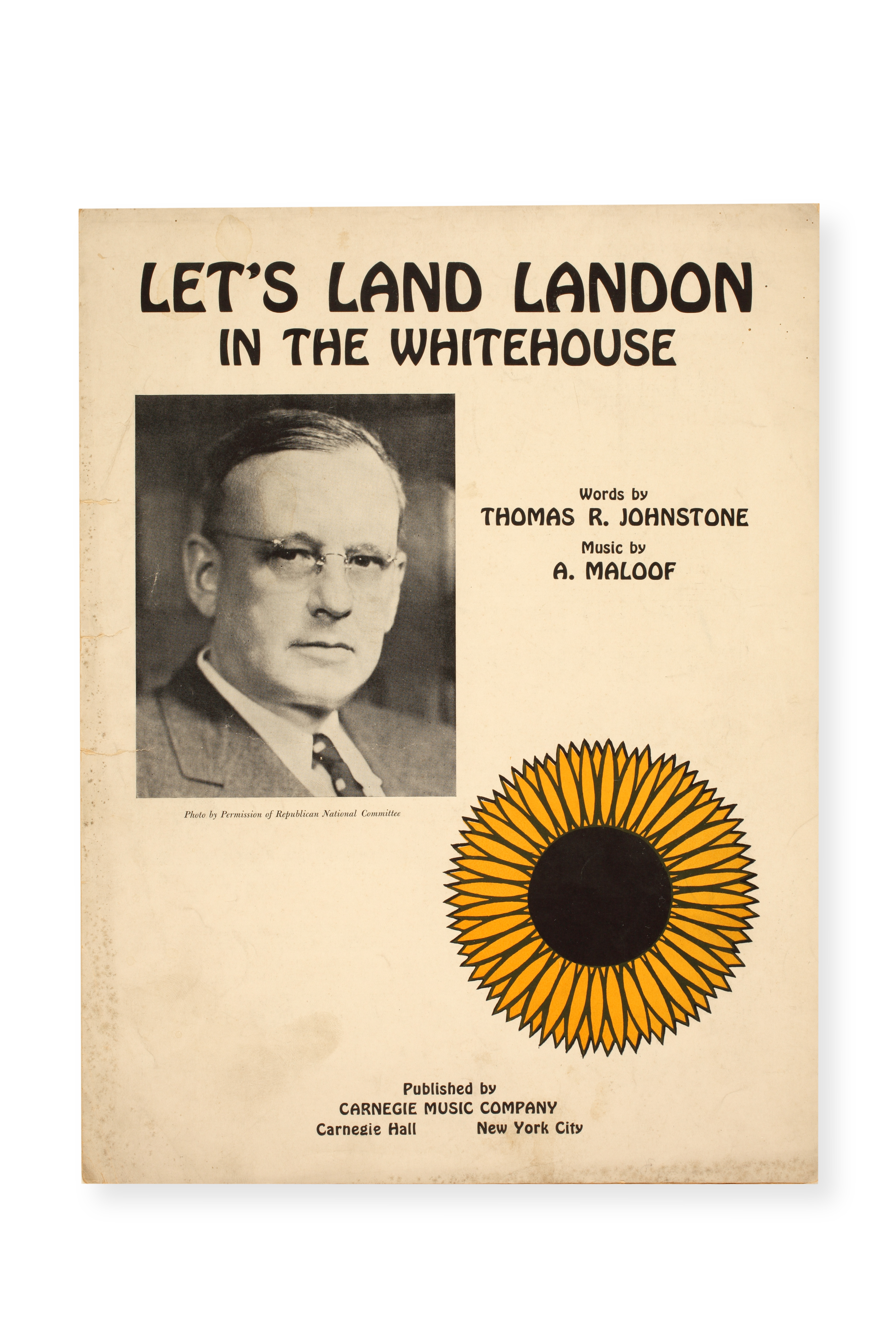 Sheet music for 1936 Landon presidential campaign