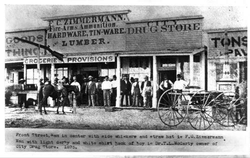Front Stree businesses in Dodge City, 1875