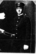 Sergeant Hughes as a Kansas National Guard bugler, 1905