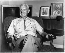 Colonel Hughes in his California home, circa 1960