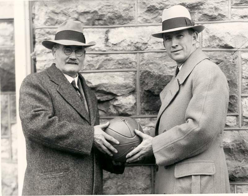 James  Naismith and Forrest Allen