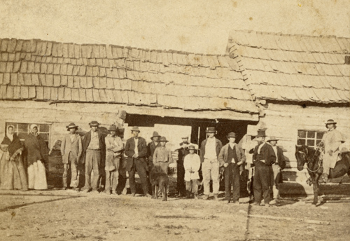Potawatomi Indians at St. Mary's Mission in Pottawatomie County, 1867
