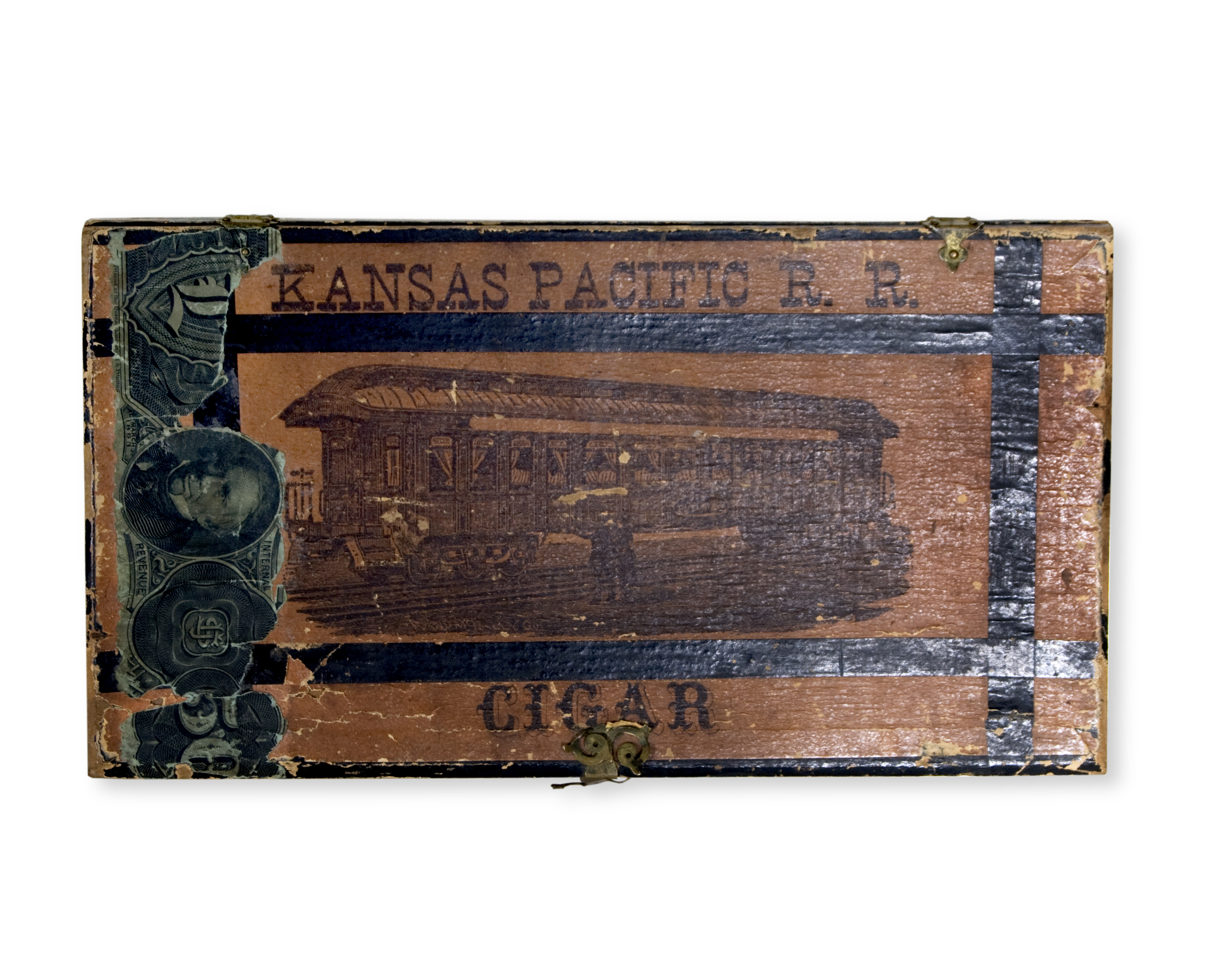 Kansas Pacific Railroad cigar box