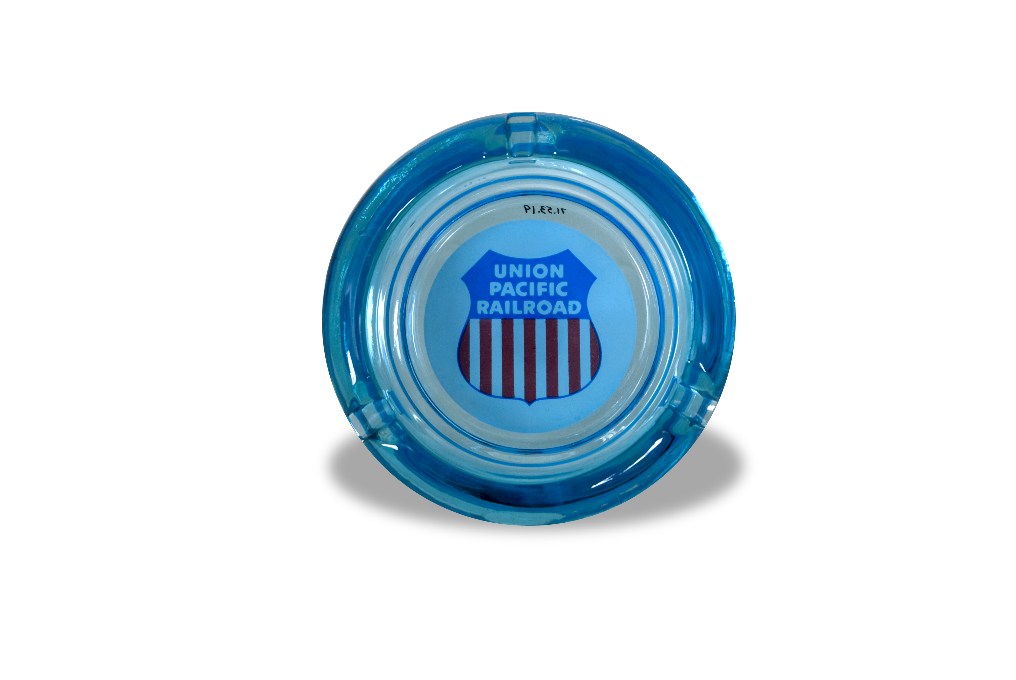 Union Pacific blue ashtray
