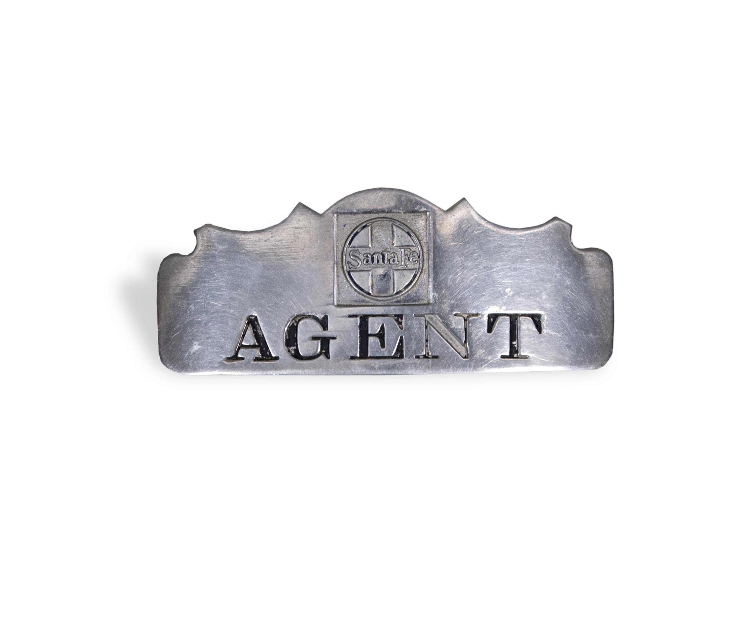 Railroad agent badge