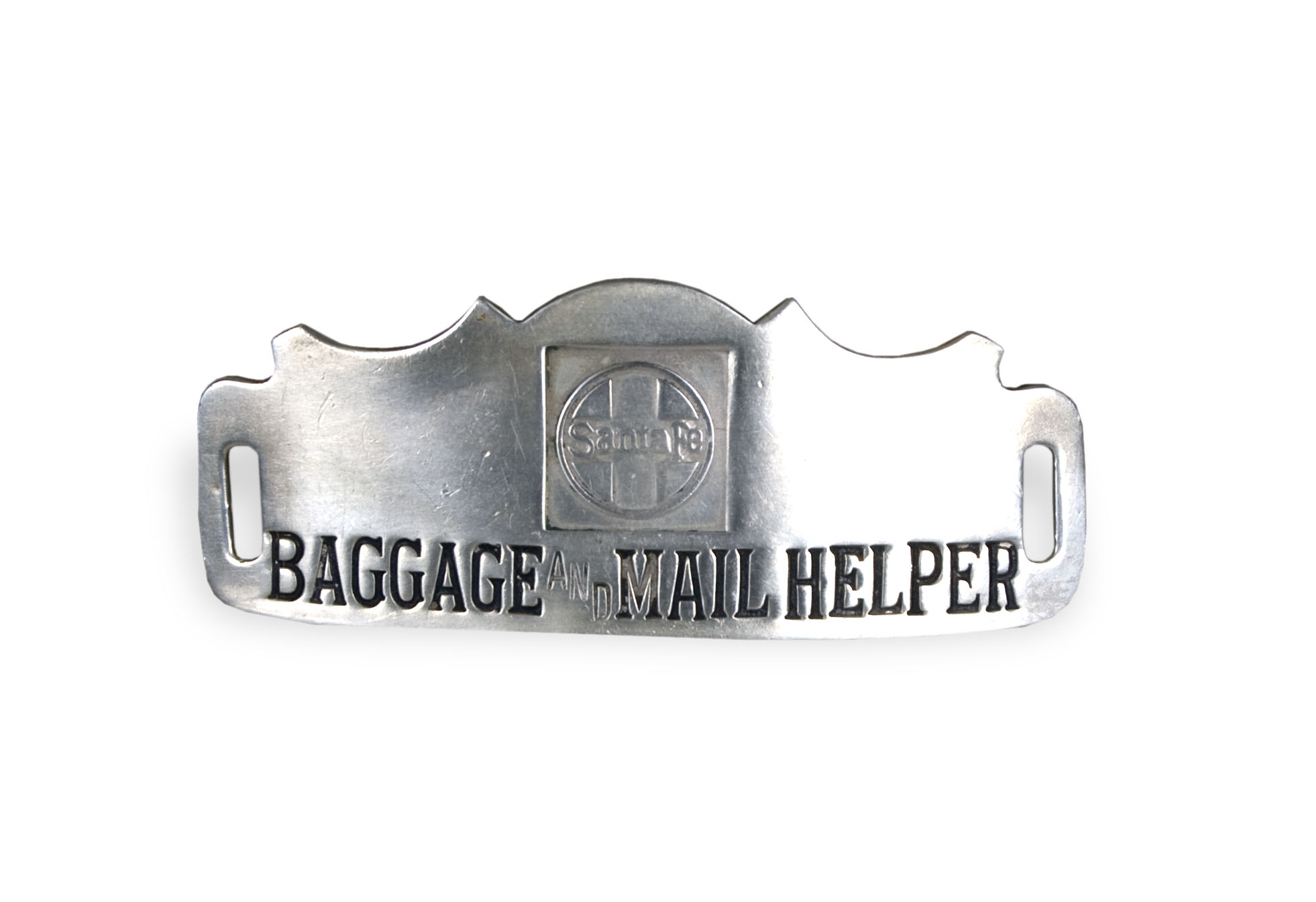 Railroad baggage and mail helper badge