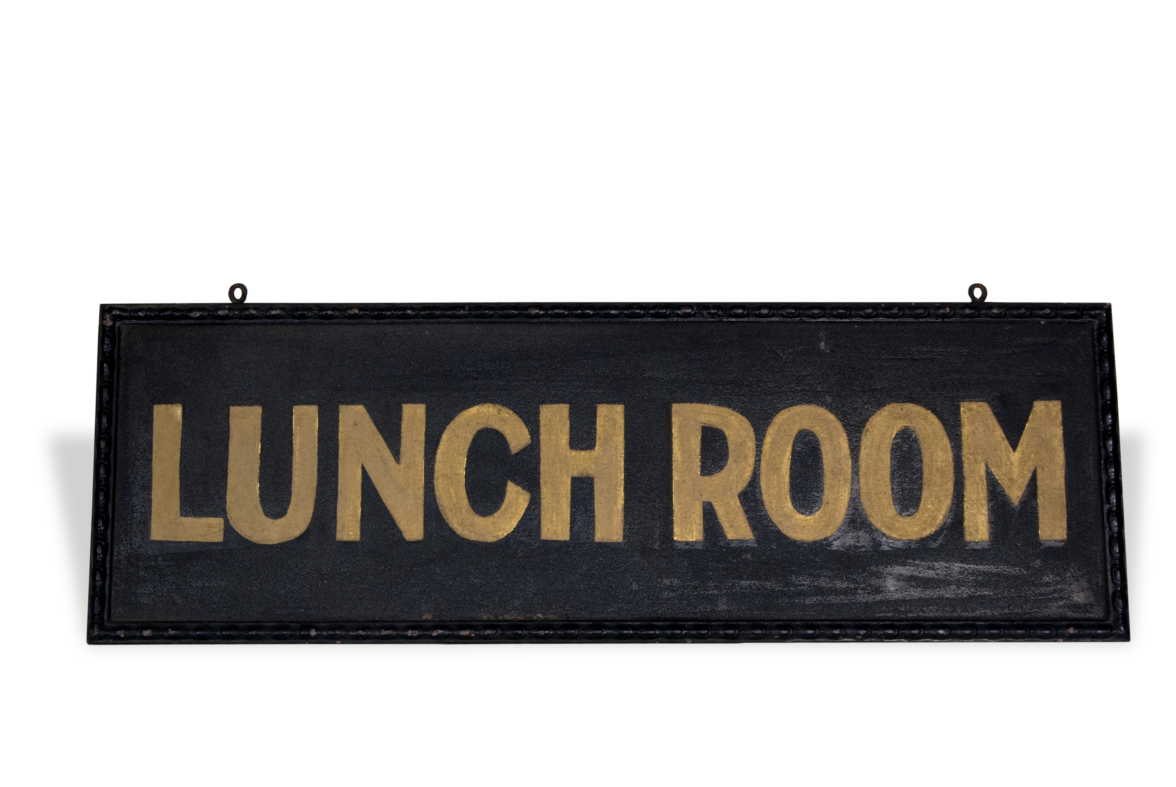 Railroad lunchroom sign