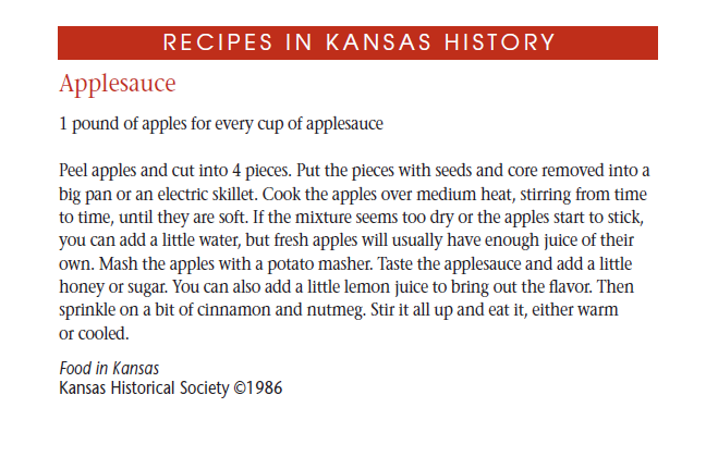Recipe - Applesauce