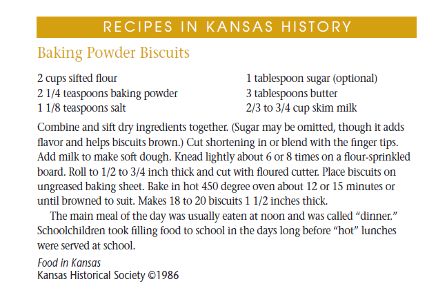 Recipe - Baking Powder Biscuits