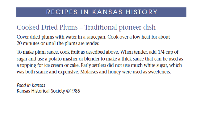 Recipe - Cooked Dried Plums