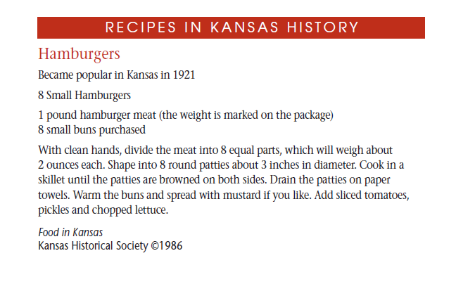 Recipe - Hamburgers