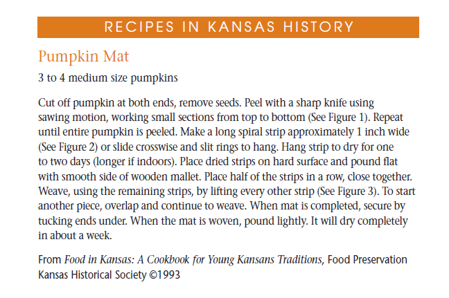 Food preservation kansapedia kansas historical society recipe pumpkin mat forumfinder Image collections