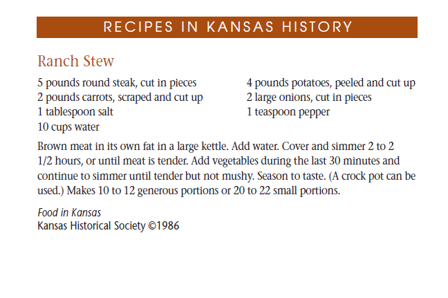 Recipe - Ranch Stew