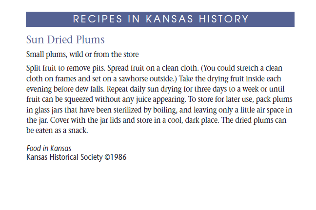 Recipe - Sun Dried Plums