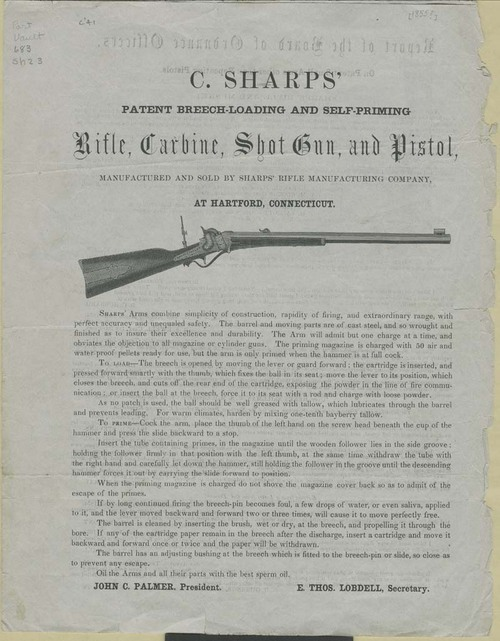 Sharps rifle advertisement